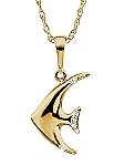 Diamond Angel Fish Necklace