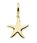 Gold Fashion Starfish Charm
