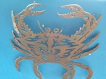 Blue Crab Aluminum or Steel Sculpture