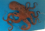 Octopus Aluminum or Steel Patina Sculpture