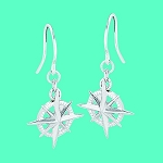 Cape Coastal Design - Compass Rose Post Earrings
