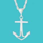 Anchor Necklace (Small) Silver