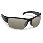 FLYING FISHERMAN EDGE POLARIZED SUNGLASSES, MATTE BLACK FRAMES, SMOKE LENSES