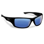 FLYING FISHERMAN TRITON POLARIZED SUNGLASSES, MATTE BLACK FRAMES, SMOKE- BLUE MIRROR LENSES