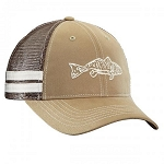 FLYING FISHERMAN RED FISH TRUCKER HAT KHAKI