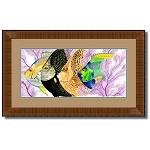 Guy Harvey Angel Face with frame