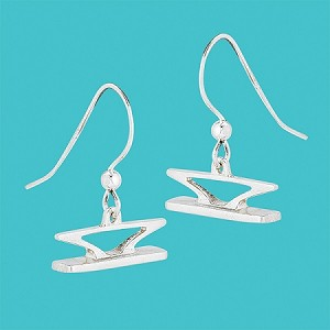 Cleat Earrings Silver
