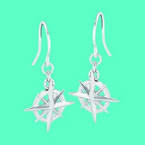 Cape Coastal Design - Compass Rose Earrings