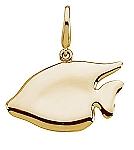 Gold Fashion Sunfish Charm