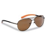 FLYING FISHERMAN 7376CA SOMBRERO POLARIZED SUNGLASSES, COPPER-CORAL FRAME WITH AMBER LENSES