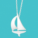 Cape Coastal Design Sailboat Necklace
