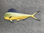 Papa Doc's Hand Carved Straight Dolphin Fish