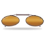 FLYING FISHERMAN 7507A CLIP-ON/SM OVAL SHAPE WITH AMBER LENSES