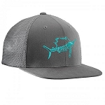 FLYING FISHERMAN SAILFISH FITTED TRUCKER HAT DK. GRAPHITE