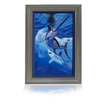 Guy Harvey Live by the sword with frame