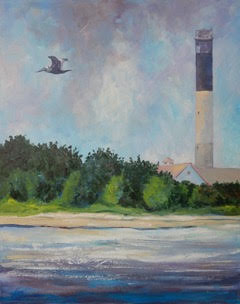 Joy Parks Coats OAK ISLAND LIGHTHOUSE