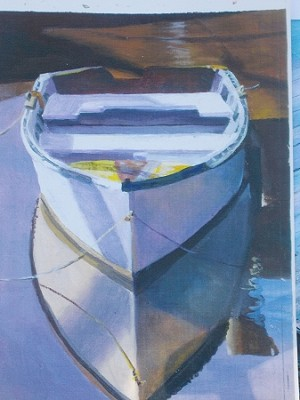 Phyliss Riley BOAT REFLECTIONS PRINT