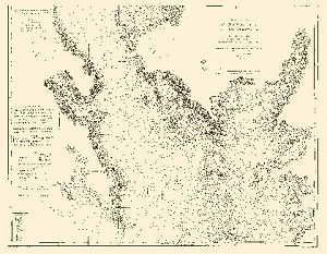 Chesapeake Bay Coastal Chart 1963