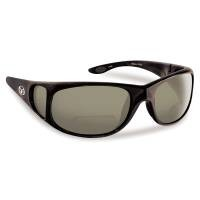 FLYING FISHERMAN 7380BS-150 NASSAU POLARIZED SUNGLASSES, BLACK FRAMES SMOKE READER +1.50 LENSES