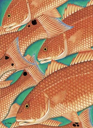 Kim Mosher Heads & Tails Fish Art Print Limited Edition